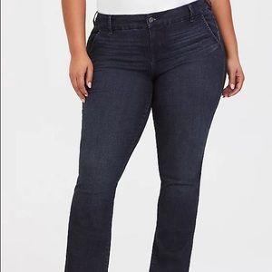 Torrid Slim Boot Jeans Vintage Stretch Dark Wash 26 Extra Tall